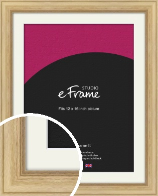 Exposed Grain Natural Wood Picture Frame & Mount, 12x16