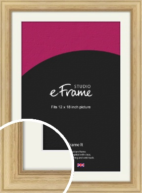 Exposed Grain Natural Wood Picture Frame & Mount, 12x18