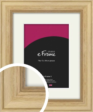Exposed Grain Natural Wood Picture Frame & Mount, 13x18cm (5x7