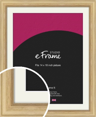 Exposed Grain Natural Wood Picture Frame & Mount, 14x18