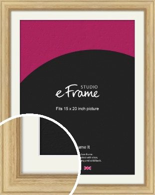 Exposed Grain Natural Wood Picture Frame & Mount, 15x20
