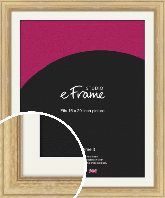 Exposed Grain Natural Wood Picture Frame & Mount, 16x20