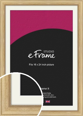 Exposed Grain Natural Wood Picture Frame & Mount, 16x24