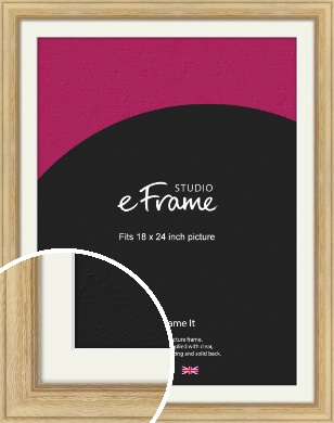 Exposed Grain Natural Wood Picture Frame & Mount, 18x24