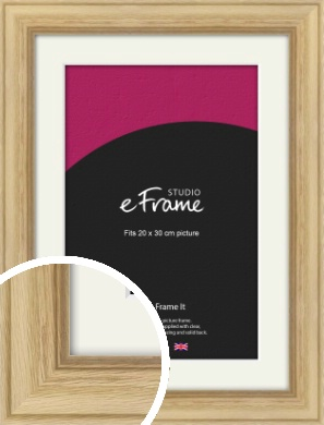 Exposed Grain Natural Wood Picture Frame & Mount, 20x30cm (8x12