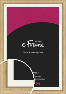 Exposed Grain Natural Wood Picture Frame & Mount, 20x30