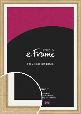 Exposed Grain Natural Wood Picture Frame & Mount, 24x36