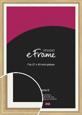 Exposed Grain Natural Wood Picture Frame & Mount, 27x40