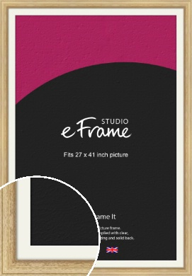 Exposed Grain Natural Wood Picture Frame & Mount, 27x41