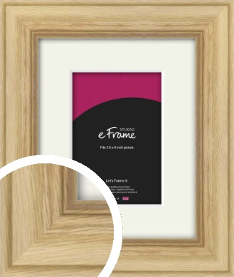 Exposed Grain Natural Wood Picture Frame & Mount, 3.5x5