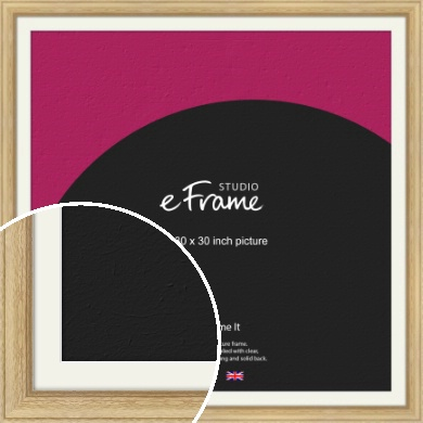 Exposed Grain Natural Wood Picture Frame & Mount, 30x30