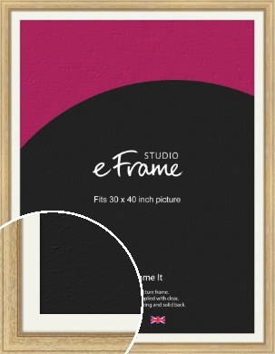Exposed Grain Natural Wood Picture Frame & Mount, 30x40