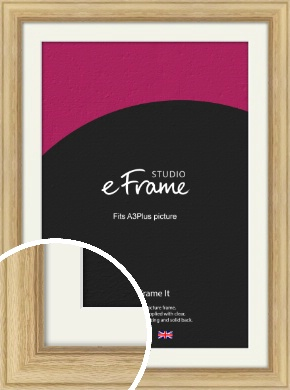 Exposed Grain Natural Wood Picture Frame & Mount, A3Plus (VRMP-264-M-329x483mm)