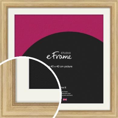 Exposed Grain Natural Wood Picture Frame & Mount, 40x40cm (VRMP-264-M-40x40cm)