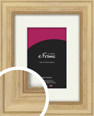 Exposed Grain Natural Wood Picture Frame & Mount, 4x6