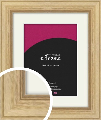 Exposed Grain Natural Wood Picture Frame & Mount, 6x8