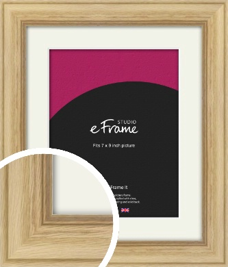 Exposed Grain Natural Wood Picture Frame & Mount, 7x9
