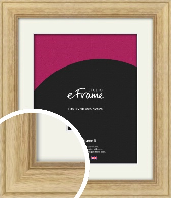 Exposed Grain Natural Wood Picture Frame & Mount, 8x10