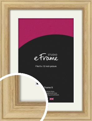 Exposed Grain Natural Wood Picture Frame & Mount, 8x12