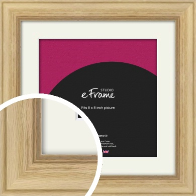 Exposed Grain Natural Wood Picture Frame & Mount, 8x8