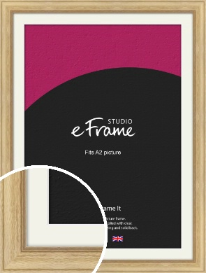 Exposed Grain Natural Wood Picture Frame & Mount, A2 (420x594mm) (VRMP-264-M-A2)