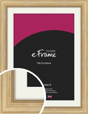 Exposed Grain Natural Wood Picture Frame & Mount, A3 (297x420mm) (VRMP-264-M-A3)