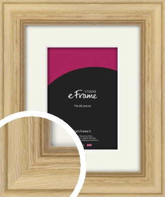 Exposed Grain Natural Wood Picture Frame & Mount, A6 (105x148mm) (VRMP-264-M-A6)