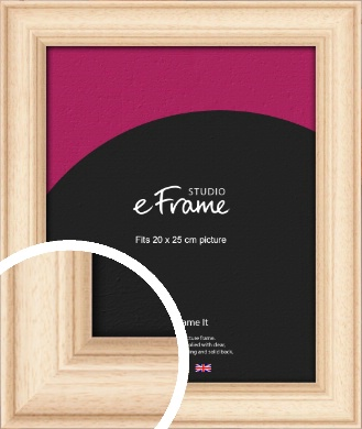 Curvaceous Natural Wood Picture Frame, 20x25cm (8x10
