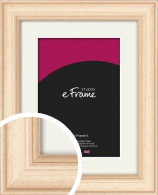 Curvaceous Natural Wood Picture Frame & Mount (VRMP-265-M)