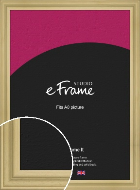 Ridged Natural Wood Picture Frame, A0 (841x1189mm) (VRMP-794-A0)