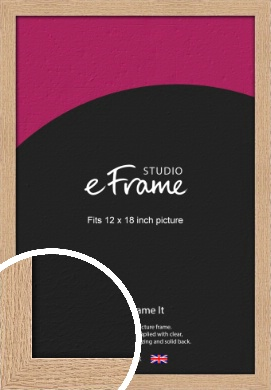 Solid English Oak Natural Wood Picture Frame, 12x18