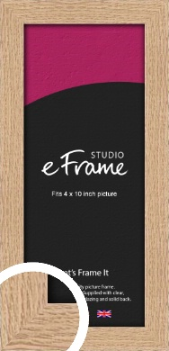 Solid English Oak Natural Wood Picture Frame, 4x10