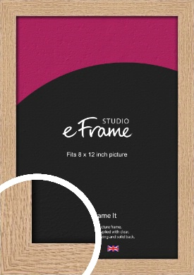 Solid English Oak Natural Wood Picture Frame, 8x12