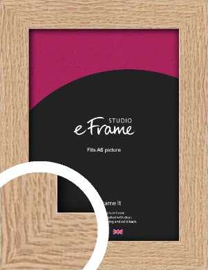 Solid English Oak Natural Wood Picture Frame, A6 (105x148mm) (VRMP-263-A6)