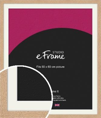 Solid English Oak Natural Wood Picture Frame & Mount, 50x60cm (VRMP-263-M-50x60cm)