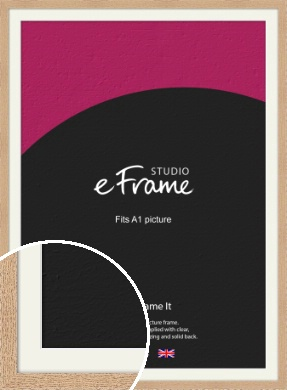 Solid English Oak Natural Wood Picture Frame & Mount, A1 (594x841mm) (VRMP-263-M-A1)