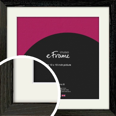 Industrial Edge Black Picture Frame & Mount, 10x10