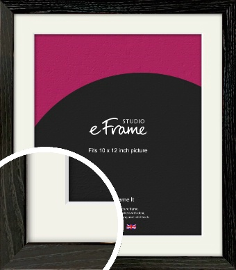 Industrial Edge Black Picture Frame & Mount, 10x12