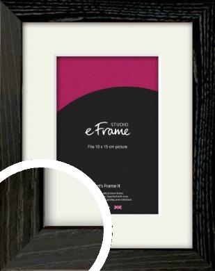 Industrial Edge Black Picture Frame & Mount, 10x15cm (4x6