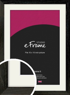 Industrial Edge Black Picture Frame & Mount, 10x15