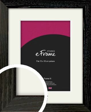 Industrial Edge Black Picture Frame & Mount, 13x18cm (5x7