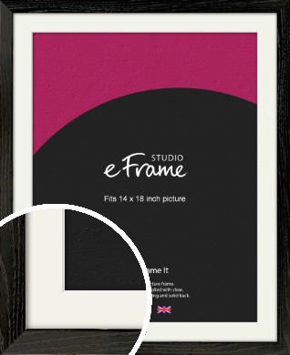 Industrial Edge Black Picture Frame & Mount, 14x18