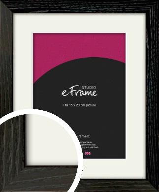 Industrial Edge Black Picture Frame & Mount, 15x20cm (6x8