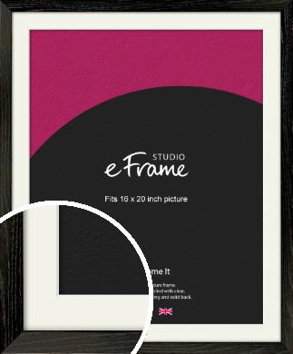 Industrial Edge Black Picture Frame & Mount, 16x20