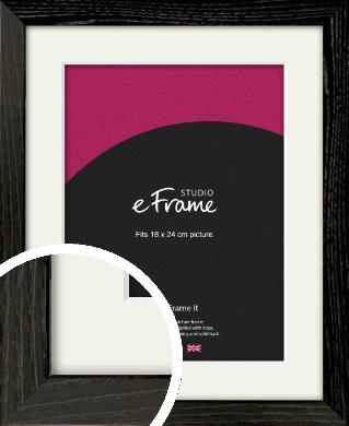 Industrial Edge Black Picture Frame & Mount, 18x24cm (VRMP-591-M-18x24cm)