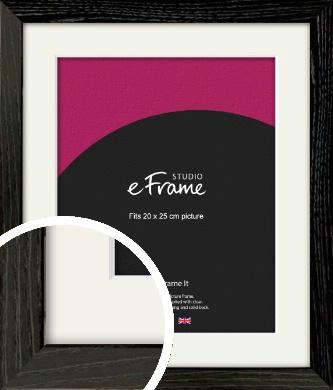 Industrial Edge Black Picture Frame & Mount, 20x25cm (8x10