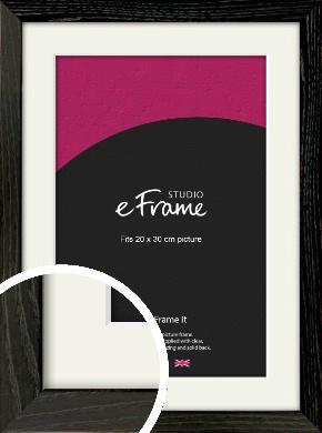 Industrial Edge Black Picture Frame & Mount, 20x30cm (8x12