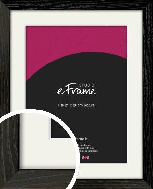 Industrial Edge Black Picture Frame & Mount, 21x28cm (VRMP-591-M-21x28cm)