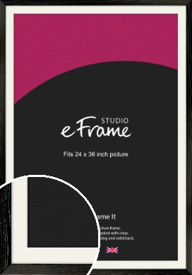 Industrial Edge Black Picture Frame & Mount, 24x36