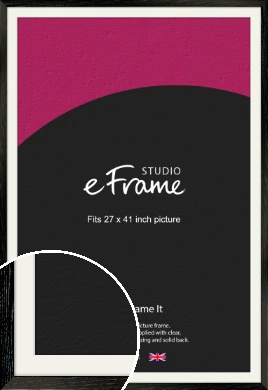 Industrial Edge Black Picture Frame & Mount, 27x41